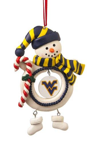 West Virginia University Jolly Christmas Snowman Ornament