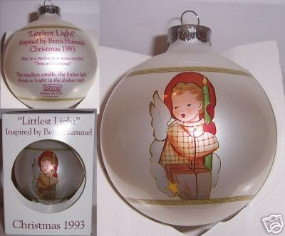 Littlest Light Hummel Christmas Ornament 1993 Schmid