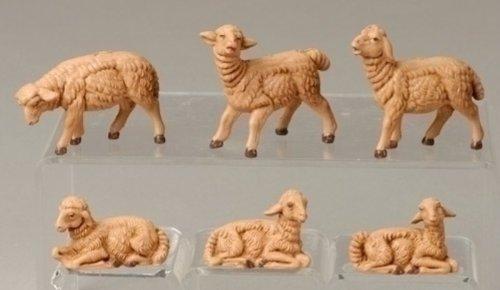 3.5 Inch Fontanini 6 Piece Sheep Figurines 55016