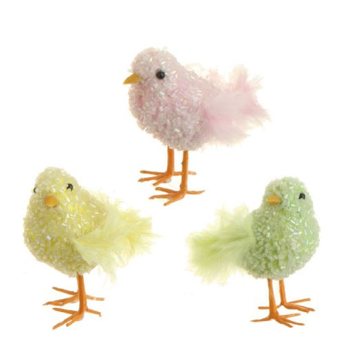 RAZ Imports – Set of 3 Multicolored Spring / Easter Chicks