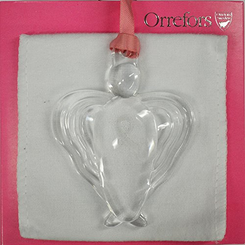Orrefors Angel of Promise Ornament