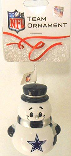NFL Team Ornament, Snowman, Dallas Cowboys, Pack of 3