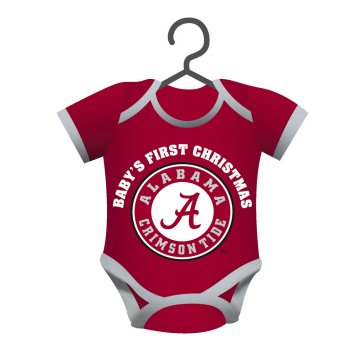 Alabama Crimson Tide Official NCAA 4 inch x 3 inch Baby Shirt Ornament