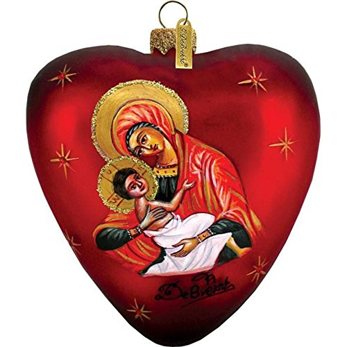 Mary and Jesus Heart Ornament