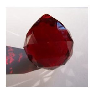 40mm Red Crystal Ball Prisms