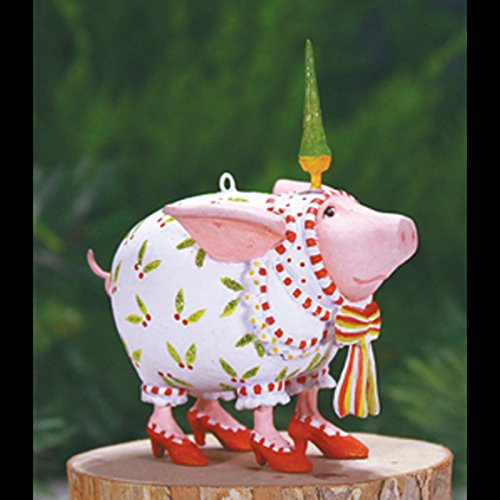 3.25″ Patience Brewster Krinkles Mini Nanette Pig Decorative Christmas Ornament