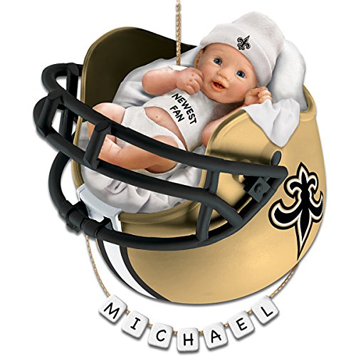 NFL New Orleans Saints Personalized Baby's First Christmas Ornament by The Bradford Exchange
