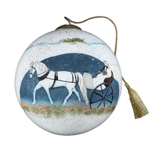Ne'Qwa Art Wedding Carriage – Glass Ornament Hand-Painted 490-NEQ