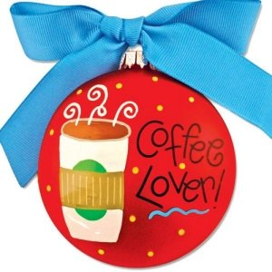 Coton Colors Coffee Lover * Glass Holiday Gift PO-COFFEE-NOMSG