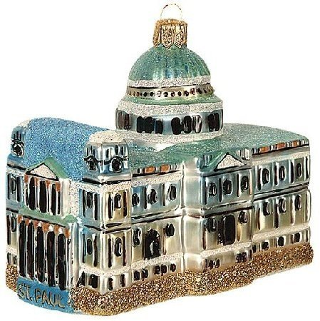 St. Paul Cathedral Polish Glass Christmas Ornament