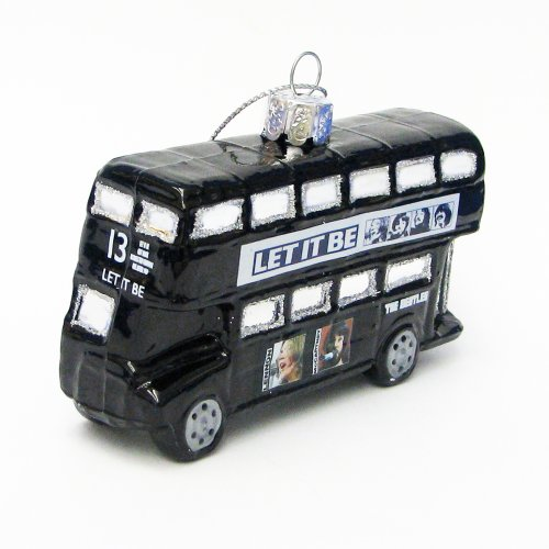 The Beatles Kurt Adler Glass London Bus Ornament