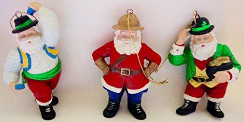 Vintage Danbury Mint Santa Around The World Ornaments (1991)