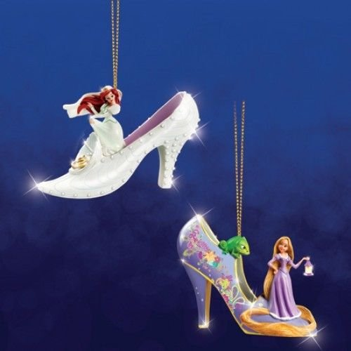 Disney Once Upon A Slipper Ornament #7 Bradford Exchange Ornament Set