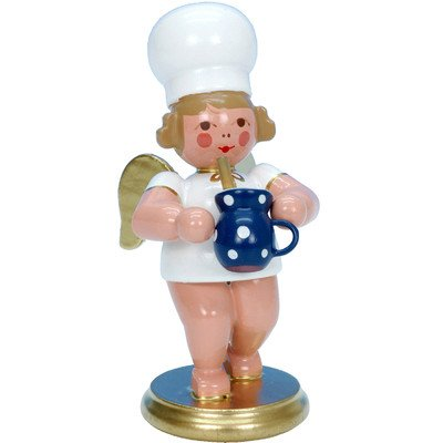 "31266 – Christian Ulbricht Ornament Angel Baker w/Milk Pot – 3″""H x 1.25″""W x 2″""D"