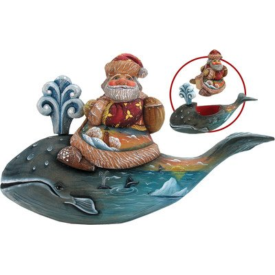 G. Debrekht Whale Tales Sant a Figurine, 5-Inch Tall, Limited Edition of 900, Hand-Painted
