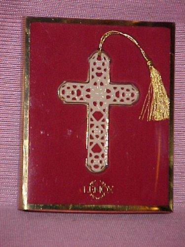 Lenox Pierced China Cross Ornament
