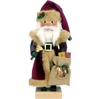 Christian Ulbricht Nutcracker – Burgundy Santa – 15H x 7W x 7D
