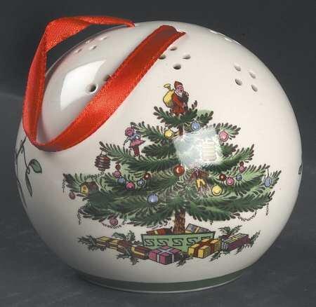 Spode Christmas Tree Pomander Ball Ornament