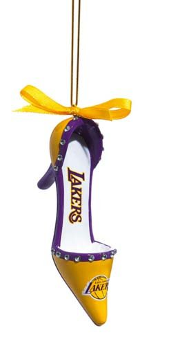 Los Angeles Lakers Official NBA 3 inch x 1.5 inch Team Shoe Ornament