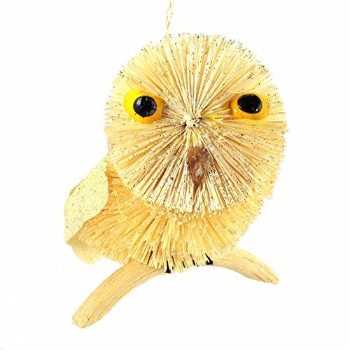 Martha Stewart Buri Bristle Brush Artic Owl Christmas Ornament