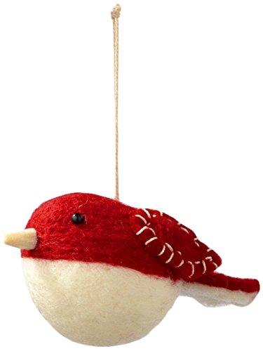 Sage & Co. XAO17079 4.75″ Felt Robin Ornament