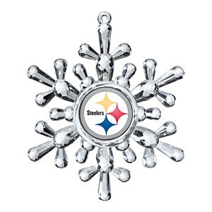 NFL Atlanta Falcons Traditional Snowflake Ornament, 4.5″ in Diameter, Clear