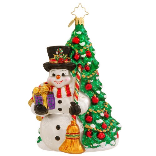 Christopher Radko Fir and Frosty Ornament