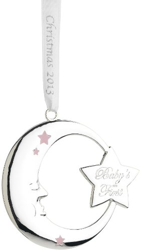 Reed & Barton Baby's First 2013 Christmas Ornament, 5-Inch, Pink