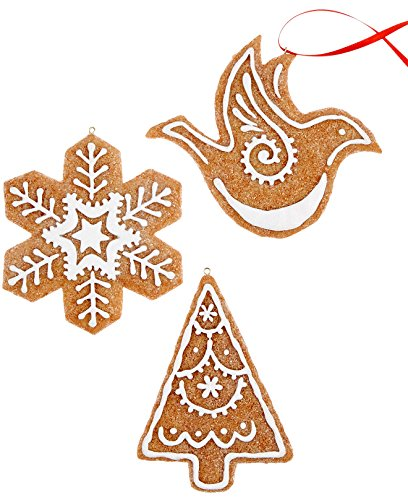 Holiday Lane Set of 3 Gingerbread Cookie Ornaments