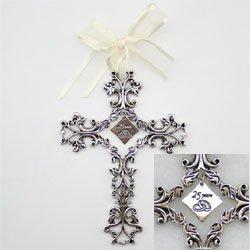 25th Anniversary Cross Ornament – Traditional 25th Wedding Anniversary Gift Idea