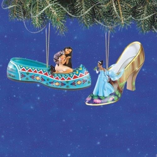 Disney Once Upon A Slipper Ornament #5 Bradford Exchange Ornament Set