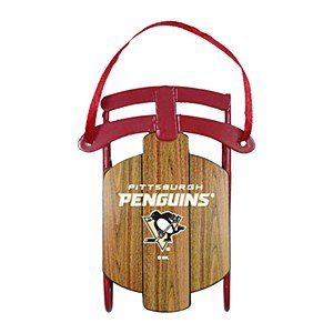Pittsburgh Penguins Official NHL 3.5 inch Metal Sled Christmas Ornament