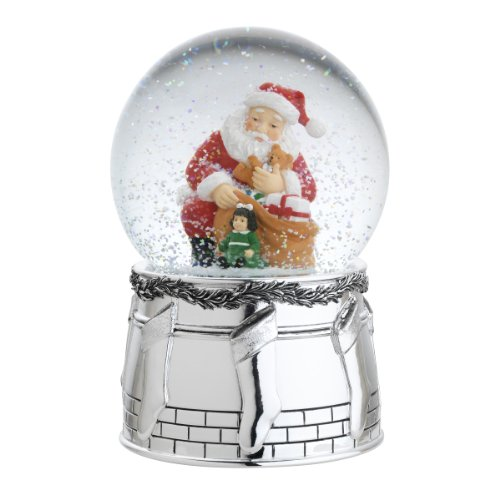 Reed & Barton St. Nick Snowglobe Seasonal Ornament, We Wish You A Merry Christmas, 6-Inch