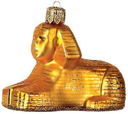 Egyptian Sphinx Polish Glass Christmas Ornament