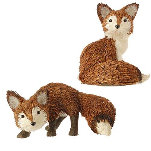 RAZ Imports – 5.5″ & 3″ Fox Ornaments – Set of 2