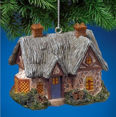 Thomas Kinkade A Quiet Evening Light-Up Cottage Ornament