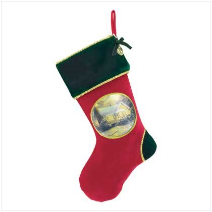 Thomas Kinkade Christmas Holiday Hanging Stocking Gift