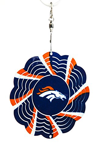 Denver Broncos Geo Spinner Christmas Ornament
