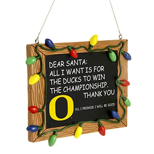 Oregon Ducks Official NCAA 3 inch x 4 inch Chalkboard Sign Christmas Ornament