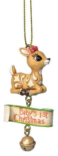 Jim Shore Rudolph Traditions Baby Clarice Ornament