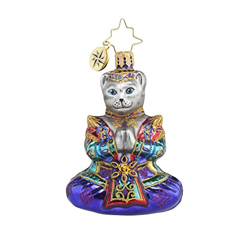 RADKO NAMASTE GEM Indian Cat Hindu Glass Ornament