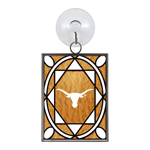 Texas Longhorns Official NCAA 2 inch x 3 inch Stained Glass Christmas Ornament by Topperscot