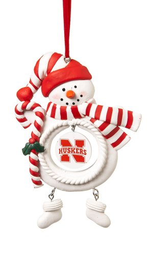 University of Nebraska Huskers Jolly Christmas Snowman Ornament