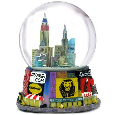 New York Broadway Snow Globe 65mm