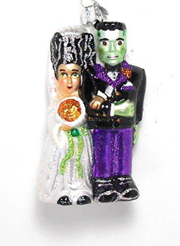 "Old World Christmas Frankenstein & Bride, 4 "" Glass Ornament"