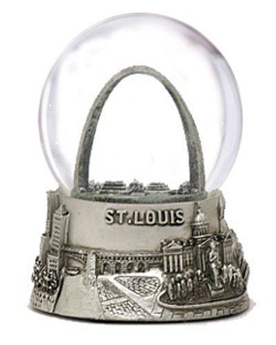 St. Louis Silver Mini Snow Globe 45mm