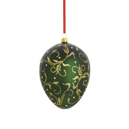 Reed & Barton Golden Scroll Egg Christmas Ornament, 4-1/2-Inch