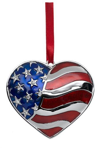 Lenox Silverplated Heart of America Ornament