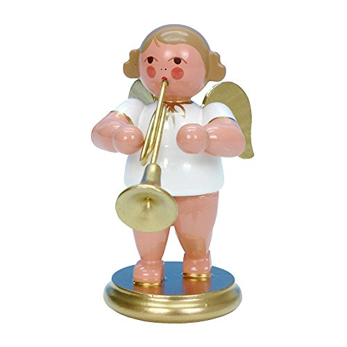 "31352 – Christian Ulbricht Ornament Angel musician with trumpet – 2.5″""H x 1.5″""W x 2.25″""D"