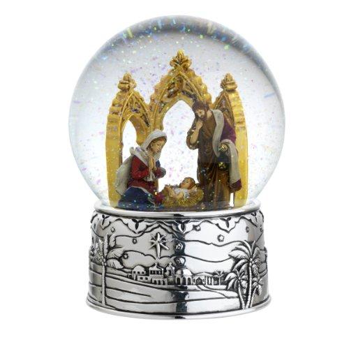 Reed & Barton Cathedral Nativity Snowglobe Seasonal Ornament, Oh Holy Night, 6-1/2-Inch